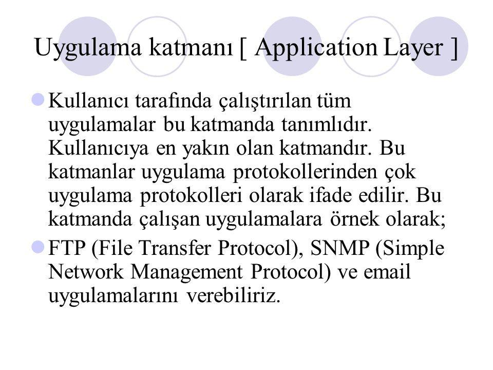 Uygulama katmanı [ Application Layer ]
